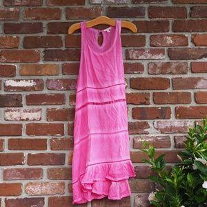 EN CREME Pink Distressed Dress